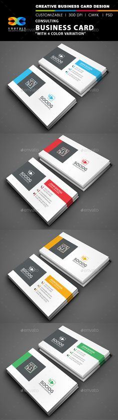 Consulting Business Card — Photoshop PSD #business card #corporate business card • Available here → https://graphicriver.net/item/consulting-business-card/9216813?ref=pxcr