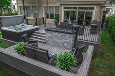 First off, you ought to pick the location within the garden or patio, where you would like to position your outdoor furnishings and glider. Backyard Patio Designs, Backyard Landscaping, Backyard Ideas, Low Deck Designs, Deck Patio, Landscaping Ideas, Whirlpool Deck, Hot Tub Backyard, Backyard Renovations