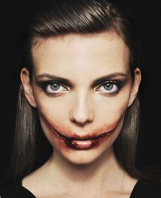 Макияж на Хэллоуин: Невеста Джокера