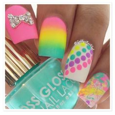 Summer colorful nails