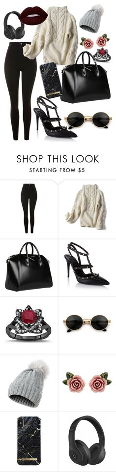 Winter Time Fashion by rosegoldpearls on Polyvore featuring Topshop, Valentino, Givenchy, Dolce&Gabbana, Beats by Dr. Dre and Lime Crime %affiliate #stylin'
