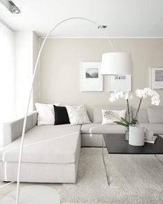 Beige Living Rooms, Living Room White, White Rooms, Living Room Colors, New Living Room, Interior Design Living Room, Living Room Designs, Cozy Living, White Walls