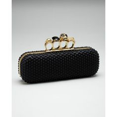 Beaded Knuckle-Clasp Clutch I want this one!!!!