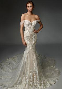 Stunning Wedding Dresses, Dream Wedding Dresses, Designer Wedding Dresses, Bridal Dresses, Wedding Gowns, Pina Tornai Wedding Dresses, Wedding Shoes, Lace Wedding, Lace Mermaid Wedding Dress