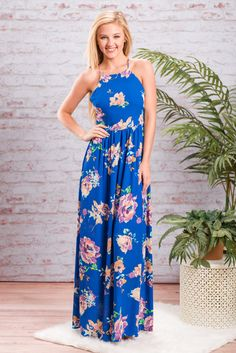 This gorgeous maxi dress is a summer dream! The colors, the print and the cut are all perfection! We love that gathered waist too! It's makes it so flattering!! This maxi dress is fully lined and zips halfway down the back to make getting into it much easier! This will be a fabulous choice for weddings or date night!