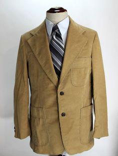 fa86d10f3 Details about Levis Panatela Blazer Sport Coat size 40s Corduroy Jacket 2  Button Fully Lined