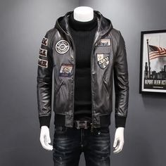 Buy Men's bomber military jacket, flight jacket, aviator jackets, bomber jackets and other casual men's jackets at LeStyleParfait. Types Of Jackets, Jackets For Women, Bomber Jacket Men, Men's Jacket, Leather Jacket With Hood, Revival Clothing, Aviator Jackets, Jacket Style, Winter Jackets