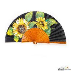 Black sunflowers fan