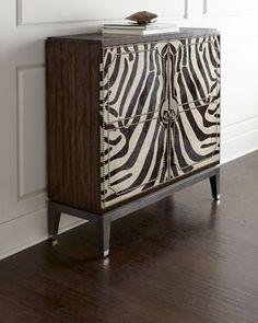 Vanna Zebra Cabinet at Horchow.