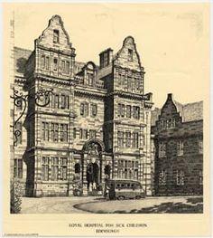 Drawing of Royal Edinburgh Hospital for Sick Children, Sciennes Road ...