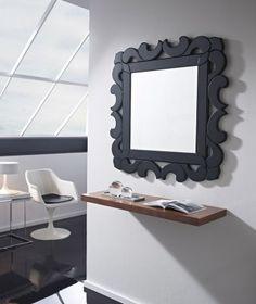 espejos venecianos modelo cilicia negro