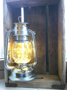 Oil lantern decorated with LED lights