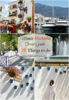 Ultimate Marbella Travel Guide: 39 Things to do in Marbella, Spain include Old Town, Orange Square, Carmen Street, Puerto Banus (place full of luxury) and playing golf. Beaches and beach clubs with pool parties such as Ocean Club, Nikki Beach are the perfect reason for the summer holiday. Nightlife\ Night outs, bars and restaurants in Marbella / Malaga are lively. In the guide you will also find hotels, fashion and style guide. – Christobel Travel
