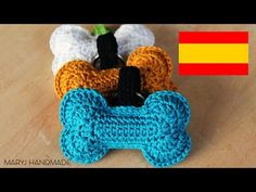 Hueso tejido a crochet | amigurumi | aplicacion | MARYJ HANDMADE - YouTube