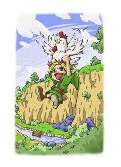 Flying with cuccos \o/ #Zelda
