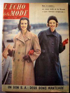 L  ECHO DE LA MODE 1957,  n° 42, revue ancienne, couture broderie tricot | Livres, BD, revues, Revues, Style de vie et mode | eBay!