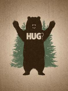 veni y dame un abrazo de oso !