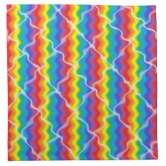 Cracked Rainbow Cloth Napkins