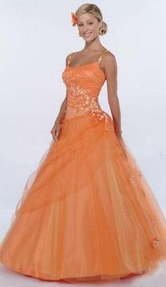 *Orange Formal Gown @Molly Williams