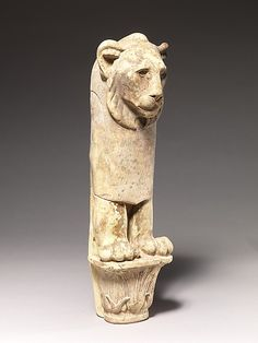 Lion furniture leg Period: Late Period Date: 4th century B.C. Geography: Country of Origin Egypt, Eastern Delta; Possibly from Hiyea Medium:...