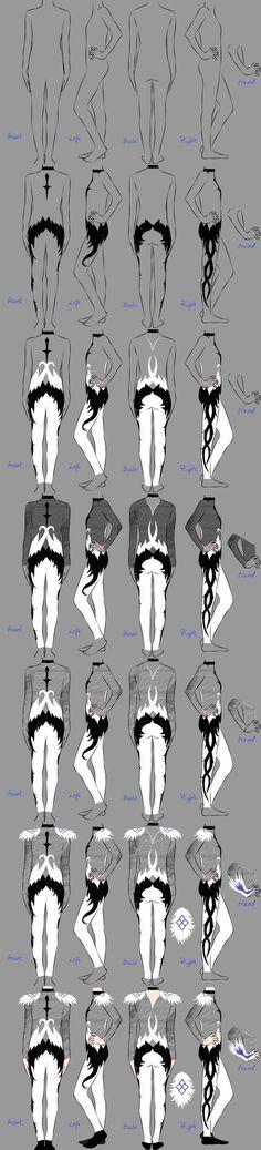 Yuri!!! On Ice costume - AGAPE FIGURE SKATING SUIT, Yuri Plisetsky - costume design drawing. Hopefully helpful for artists and cosplayers