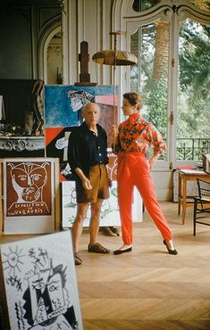 Pablo Picasso with Bettina | Flickr - Photo Sharing!