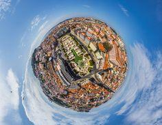 Martim Moniz Square. Planet • AirPano.com • Photo. Planet Lisbon, Portugal.