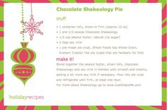 Kati Heifner: Chocolate Shakeology Pie Recipe Healthy Thanksgiving ...