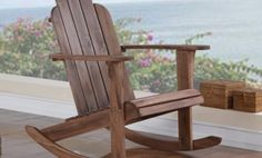 Linon Woodstock  Outdoor Rocking Chair or Ottoman