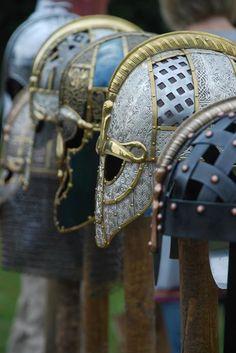 Helm display Sutton Hoo Exhibition Centre 2011