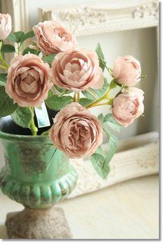 エクリュメリンダローズ【アンティークピンク】/薔薇【造花・アートフラワー】