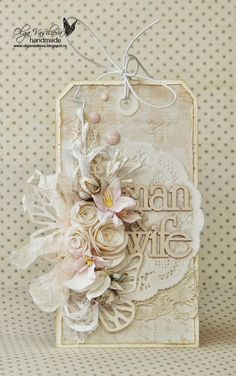 Crafting ideas from Sizzix UK: Two tags by Olga