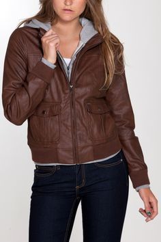 OBEY JEALOUS LOVER JACKET (in Coffee Bean color) on sale - $80.99:  This is a cute, fall time jacket. Removable gray fleece lining.