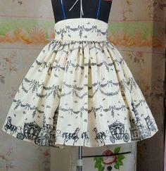 (Replica)Dream of Lolita Snow Castle Skirt