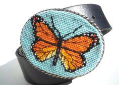 Needlepoint Monarch Butterfly
