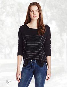 Joie Women's Emmylou Cashmere Blend Metallic Stripe Sweater