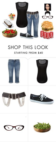 """""""Lunch with Nana"""" by the-walking-doctor ❤ liked on Polyvore featuring Silver Jeans Co., ATM by Anthony Thomas Melillo, Burberry, Keds and Chanel"""