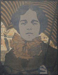 BLAUENSTEINER Leopold, Woman with Parasol, 1903