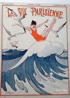 René Préjelan. La Vie Parisienne, 18 Août 1923. [Pinned 27-iii-2015]