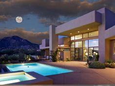 Home At 41238 N Place, Scottsdale, Arizona, United States. Dream Home Design, House Design, Desert Dream, Scottsdale Arizona, Good House, Big Houses, Amazing Architecture, Exterior Design, Outdoor Spaces