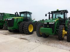 Both made in Waterloo,Iowa.460hp JOhn Deere 9460R &8360R