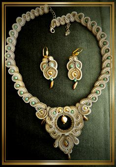 soutache handmaid jewelry by caricatalia.deviantart.com on @deviantART