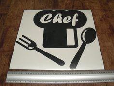 Pegatina de vinilo ideal para la cocina.