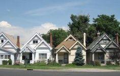 cute houses all in a row :) denver