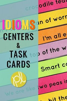 Introduce idioms with these hands-on activities! Use the display slides in the whole group and add the task cards and sorting materials to your small groups and centers. Printables and mini-posters are also included for extra practice! Great for your figurative language unit! From Positively Learning #idioms #figurativelanguage
