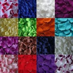 Foreverbeads 1200 PCS Fabric Silk Flower Rose Petals Wedding Party Decoration Table Confetti - Hot Pink: Amazon.co.uk: Kitchen & Home