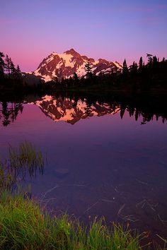 Picture of a Lake & Mount Shuksan | by Joe Dsilva