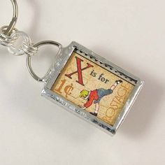 X is for eXercise Keychain by XOHandworks $20