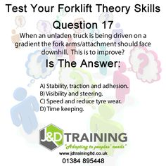 Forklift question of the day 17 from http://ift.tt/1HvuLik #forklift #training #safety #jobsearch