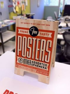 Mini sandwich board - Free Posters Sign | The Graphic Works of Ben Barry